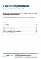 Querschnittsdimensionierung von Kabel- und